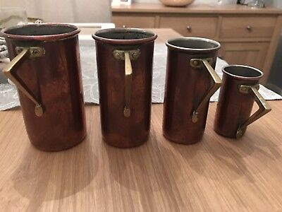 Old Copper Measuring Cups