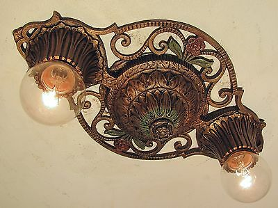 CLASSIC! Restored Antique 1930s Virden Winthrop 2 Light Fixture PAIR Available!!
