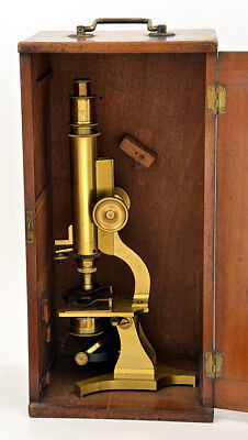 c.19th monocular brass microscope (c.1865)