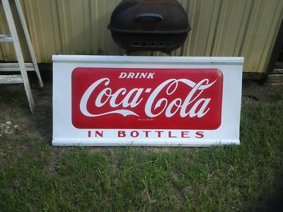 1955 Drink Coca-Cola in Bottles Large Storefront Sign