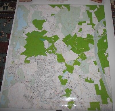 LAMINATED CONSERVATION MAP HOLDEN JEFFERSON MA Quinapoxet GIFT FOR HUNTER 36x48