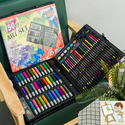 150PCS Children Kid Drawing Painting Art Box Set Colouring Pens Pencils Crayon