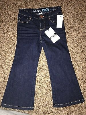 Toddler Girls NWT Baby Gap Dark Jeans Size 2 Years Cute Boot New Pants Modern St