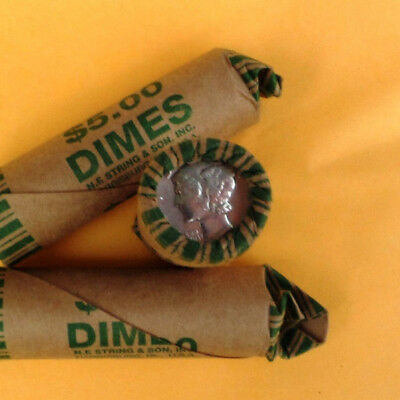 3 Rolls Of Mercury Dimes Roll of 50 90% Silver Coins