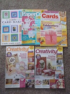 Job lot card and craft magazines