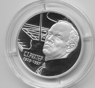 2015 Russia 2 R Silver Proof Rikhter