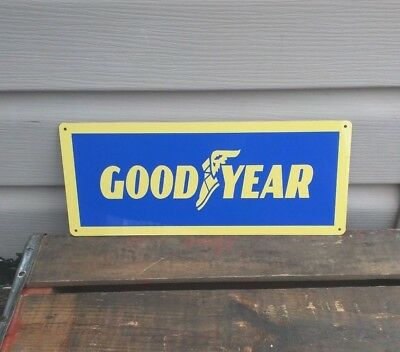"GOODYEAR Metal Sign Tires Service Gas Station Garage Mechanic Shop 5x12"" 50147"