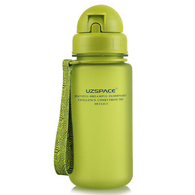 Portable Children Kids 400ml Water Bottle Drink Cup Bottle With Silicon Straw