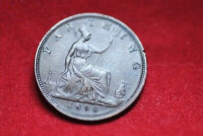 1890 Great Britain Farthing in extra fine condition--very nice