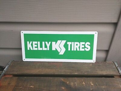"Kelly Tires advertising Metal Sign garage mechanic Shop 5X12"" 50145"