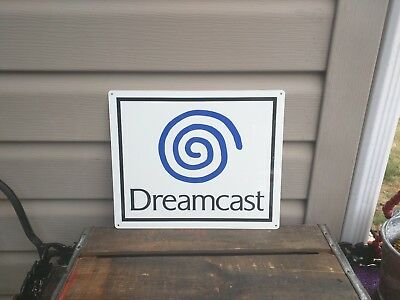 "Dreamcast Metal Sign Logo Gamer Game Room  10x12"" 50141"