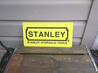 "Stanley Metal Sign Quality Tools Garage Mechanic Shop  6x12"" 50138"
