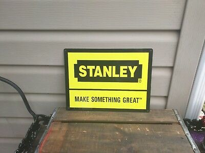 "Stanley Metal Sign Quality Tools Garage Mechanic Shop  9x12"" 50137"