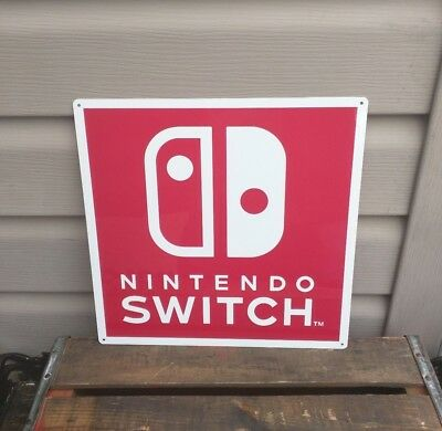 "Nintendo Switch Metal Sign Game Room Advertising  12x12"" 50130"