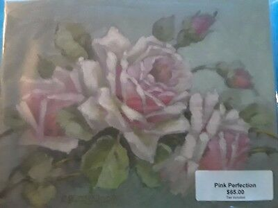 Christie Repasy 2007 Pink Perfection Signed Rose Oil Painting