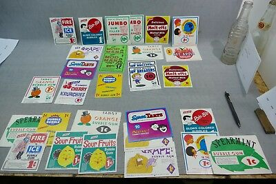 Lot of 30 Gum and Candy Vending Machine Display Sign Cards POS