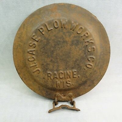 "J.I. Case Plow Works Tractor Seed Lid cover This measures 10"" across and hinge w"