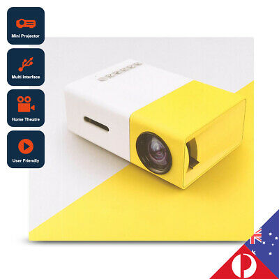 MINI Portable LED Projector 1080P HD Home Cinema Theatre AV HDMI SD USB AU