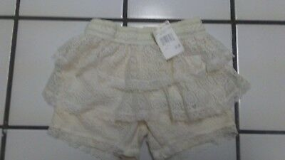 Toddler Girl 4T Off White NWT 100% Polyester Shorts