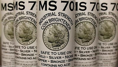 MS70 Coin Brightener Solution MS-70 Gold Silver Copper Nickel Shine Brighten 8oz