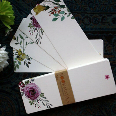 40pcs/set Vintage Floral Paper Blank DIY Bookmarks Gifts Tags Postcard Card