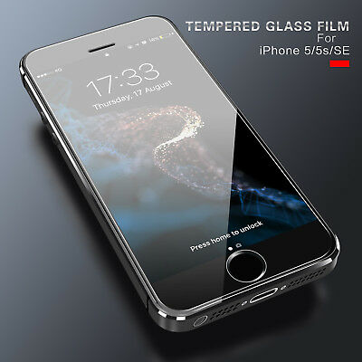 9H Premium 3D Curved Tempered Glass Film Screen Protector For iPhone SE 5 5S