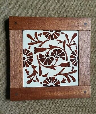 Dovecote Woodworking Antique arts & crafts pottery  tile  Mahogany frame