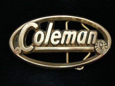 NI07141 *NOS* VINTAGE 1970s **COLEMAN** CAMPING EQUIPMENT SOLID BRASS BUCKLE