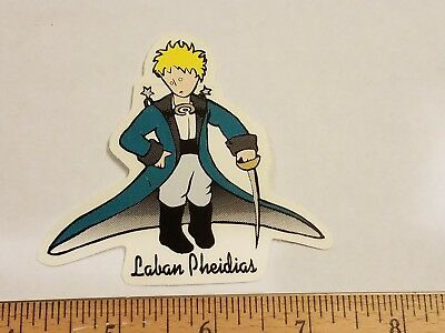 Vtg 90s invisible laban pheidias blockhead a1 meats nos skateboard deck sticker