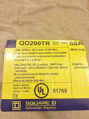 New Sealed Square D Qo200Tr 60A Enclosed Molded Case Switch 240Vac Best Price