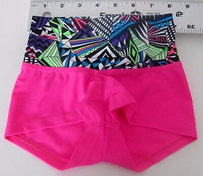 Child Extra Small Shorts New-CXS Leotard-Gymnastics--Girls- pink