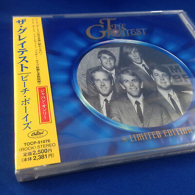 THE BEACH BOYS: The Greatest  (RARE NEW 1998 JAPANESE Limited Edit TOCP-51076)