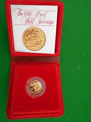 1980 proof gold half sovereign
