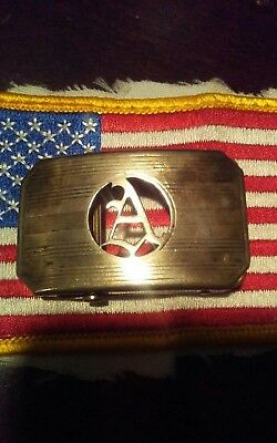 Vintage Hickok Belt Buckle Initial Sterling Silver Scripted A Rare
