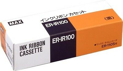 Max Black ink ribbon for time recorders ER-IR 100 Japan Free Shipping :228