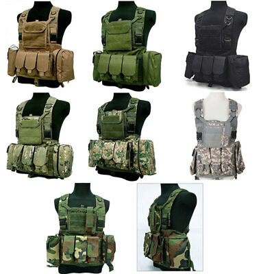 Adjustable Paintball Vest Tactical Military Combat Assault Molle Airsoft Carrier