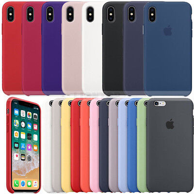 For iPhone X 6 7 8 Plus Original Silicone Ultra Thin Slim Back Phone Case Cover