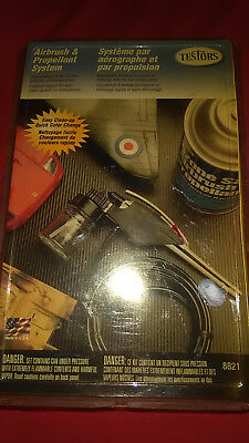 TESTORS SINGLE ACTION External Mix Airbrush and Propellant System Set