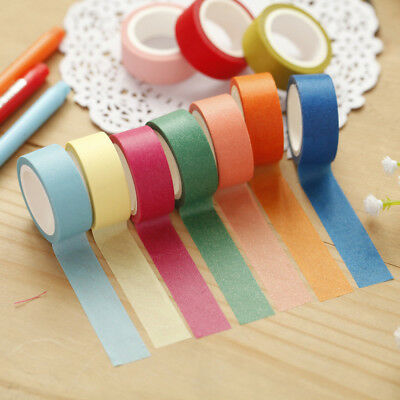 3 Pcs Candy Color Paper Washi Tapes Office Adhesive Tapes Scrapbooking Stickers