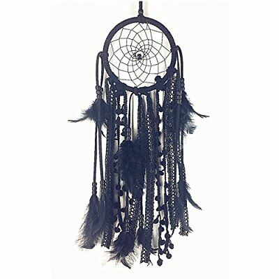 Hanging Dream catcher Handmade Traditional Black Feather Decoration Craft Gift