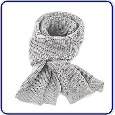 New Quality Beechfield Knitted Scarf Mens Ladies Waffle Knit Soft Touch Scarf