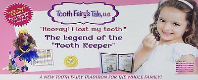 Tooth Fairy's Tale Hoory, I Lost My Tooth, Fairy Kit for Girls, Pillow, Book,
