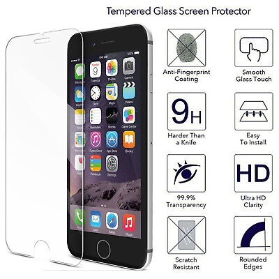 1/2/4PCS Real Tempered Glass Screen Protective Film For iPhone X/8/7/6/6S Plus A