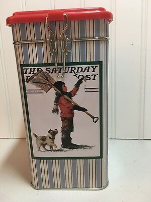 Norman Rockwell Curtis publishing advertising tin Clamp lid, excellent condition