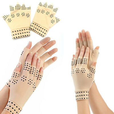 Magnetic Anti Arthritis Health Therapy Compression Gloves Hand Pain Support UK