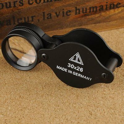 Jewellers Magnifying Loupe 30 x 26mm Glass Jewellery Antiques Magnifier Hallmark