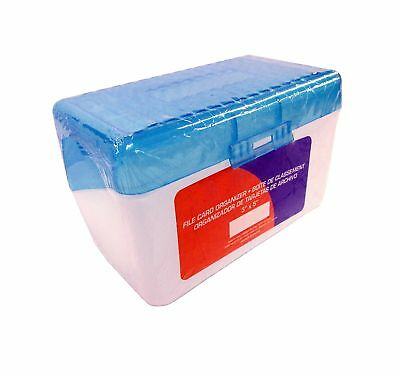 """Plastic Index Card Case for 3"""" X 5"""" Sized Index Cards - Holds 300 Index Cards..."""