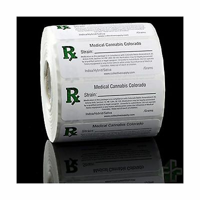 Colorado Rx Medical Marijuana Compliant Strain Labels - 1000pcs