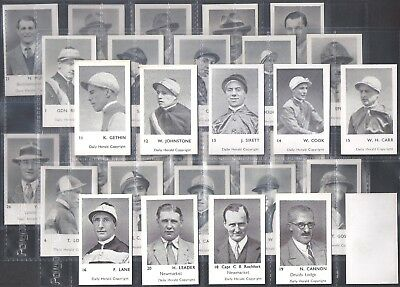Daily Herald-Full Set- Turf Personalities - Horse Racing (32 Cards) - Exc+++