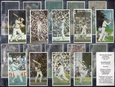 Hobbypress-Full Set- The Worlds Great Cricket Ers (20 Cards) - Exc+++